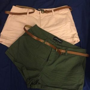 F21 Shorts in Pink and Green (MEDIUM)